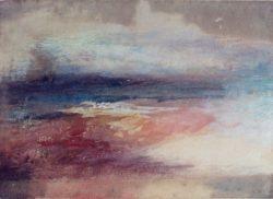 """William Turner """"Küstenlandschaft bei Sonnenuntergang"""" 14 x 19 cm"""