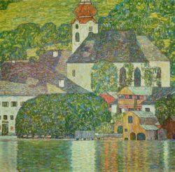 """Gustav Klimt """"Kirche in Unterach am Attersee"""" 110 x 110 cm"""