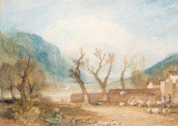 """William Turner """"Montblanc von Saint-Martin"""" 29 x 40 cm"""