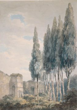 "William Turner ""Im Park der Villa Ludovisi in Rom"" 38 x 27 cm"