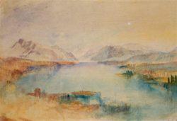 """William Turner """"Blick über den Vierwaldstätter See"""" 25 x 36 cm"""