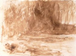 "William Turner ""Studie des Flusses Washburn"" 20 x 27 cm"
