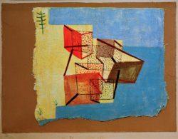 """Paul Klee """"Bebautes Ufer"""" 40 x 30 cm"""