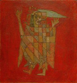 """Paul Klee """"Allegorische Figurine"""" 43 x 47 cm"""