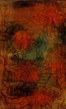 "Paul Klee ""(Theater) Bühnenprobe"" 31 x 47 cm"