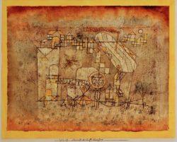 "Paul Klee ""Ankunft des Luftdampfers"" 31 x 24 cm"