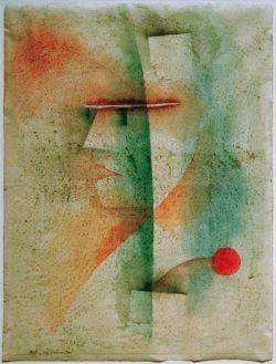 """Paul Klee """"Bildnis eines Kostümierten"""" 46 x 61 cm"""