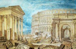 """William Turner """"Altertümer von Pola"""" 18 x 27 cm"""