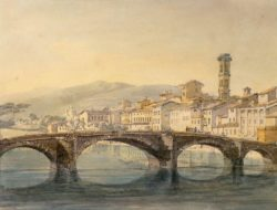 "William Turner ""Florenz, Ponte Santa Trinita"" 18 x 24 cm"