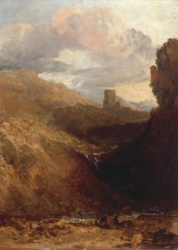 "William Turner ""Dolbadarn Castle"" 47 x 34 cm"