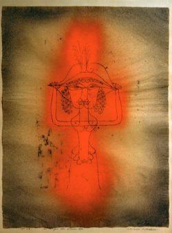 """Paul Klee """"Die Sängerin der komischen Oper"""" 46 x 60 cm"""