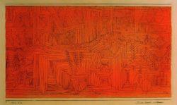 """Paul Klee """"Felsentempel mit Tannen"""" 32 x 18 cm"""