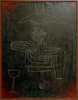 """Paul Klee """"Geist bei Wein und Spiel"""" 66 x 85 cm"""
