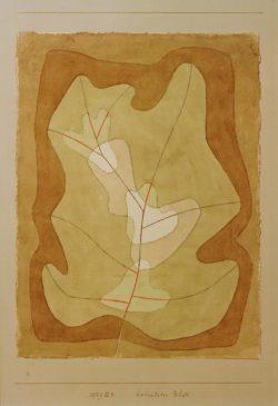 """Paul Klee """"Belichtetes Blatt"""" 23 x 31 cm"""