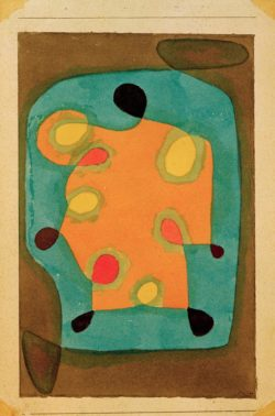 """Paul Klee """"Entwurf für einen Mantel"""" 24 x 38 cm"""
