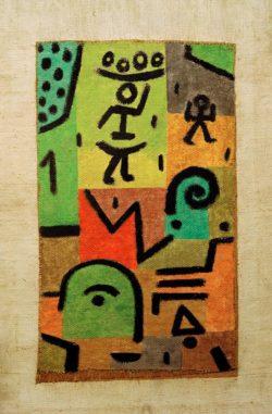 """Paul Klee """"Citronen-Ernte"""" 46 x 70 cm"""
