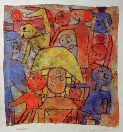 """Paul Klee """"Bunte Gruppe"""" 39 x 42 cm"""