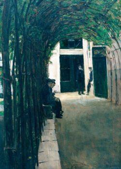"""Max Liebermann """"Altmännerhaus in Amsterdam"""" 61 x 88 cm"""