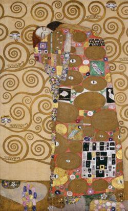 """Gustav Klimt """"Die Erfüllung"""" 121 x 194 cm"""