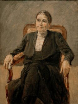 """Max Liebermann """"Bildnis Martha Liebermann"""" 91 x 116 cm"""