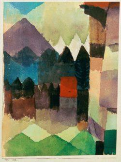 """Paul Klee """"Föhn im Marcschen Garten"""" 15 x 20 cm"""