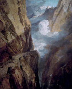 """William Turner """"Der St. Gotthard-Pass"""" 81 x 64 cm"""