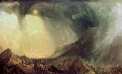 """William Turner """"Schneesturm: Hannibal überquert Alpen"""" 146 x 238 cm"""