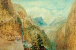 "William Turner ""Montblanc von Fort Roch"" 66 x 100 cm"
