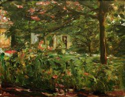 """Max Liebermann """"Der Nutzgarten nach Osten"""" 50 x 40 cm"""