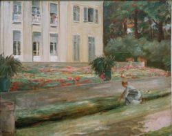 """Max Liebermann """"Die Blumenterrasse im Wannseegarten nach Nordwesten"""" 94 x 75 cm"""