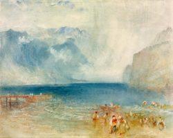 """William Turner """"Erster Dampfer auf Vierwaldstätter See"""" 23 x 29 cm"""