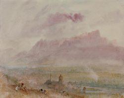 """William Turner """"Thun, Stadt und See"""" 23 x 29 cm"""