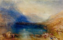 "William Turner ""Zuger See"" 30 x 47 cm"