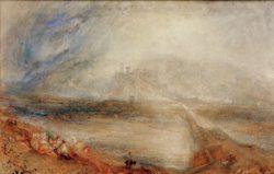 """William Turner """"Bellinzona"""" 29 x 46 cm"""