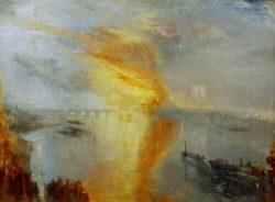 """William Turner """"Der Brand des Ober- und Unterhauses"""" 93 x 123 cm"""