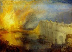 """William Turner """"Der Brand des Ober- und Unterhauses"""" 92 x 123 cm"""