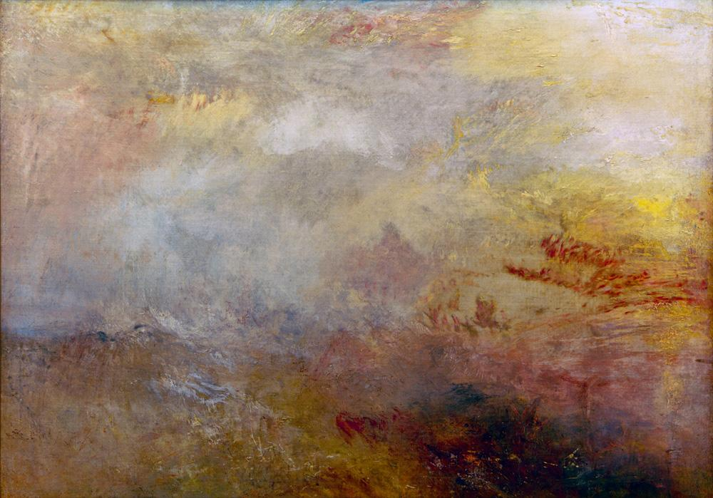 "William Turner ""Stürmische See mit Delphinen"" 90 x 121 cm"