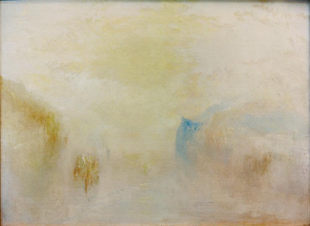 """William Turner """"Sonnenaufgang mit einem Boot zwischen Landzungen"""" 92 x 122 cm"""