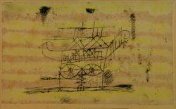 """Paul Klee """"Gerüst für den Kopf einer Monumentalplastik"""" 37 x 22 cm"""