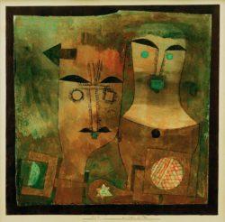 """Paul Klee """"Ein Paar Götter"""" 33 x 33 cm"""