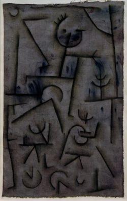 """Paul Klee """"Bacchanal in Rotwein"""" 31 x 49 cm"""
