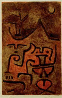 """Paul Klee """"Erd-Hexen"""" 31 x 49 cm"""