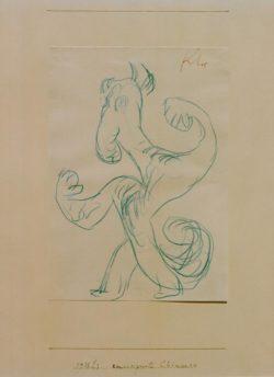 "Paul Klee ""Emanzipierte Chimaera"" 15 x 21 cm"