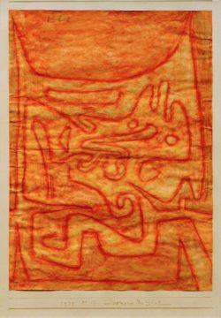 """Paul Klee """"Daemonie der Glut"""" 21 x 29 cm"""