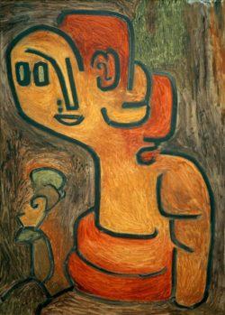 """Paul Klee """"Brustbild der Gaia"""" 69 x 97 cm"""