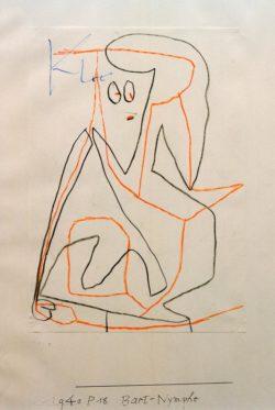 "Paul Klee ""Bart-Nymphe"" 21 x 30 cm"
