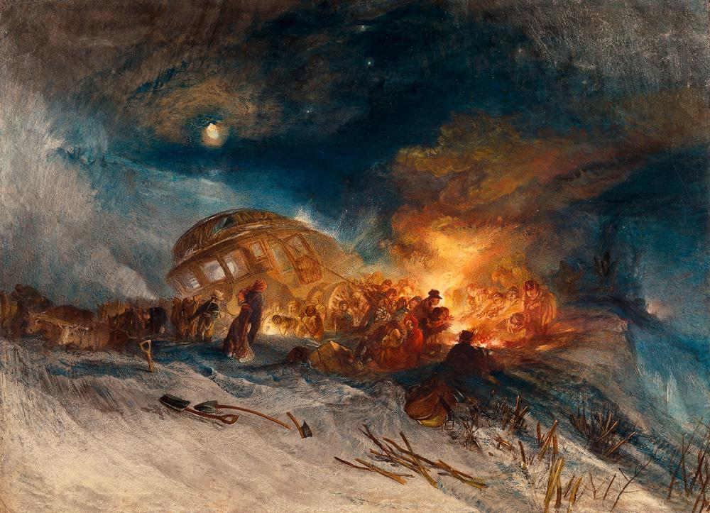 """William Turner """"Schneesturm auf Tarrar"""" 55 x 48 cm"""