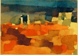 """Paul Klee """"Auf eine Skizze aus Sidibusaid zurückgreifend"""" 30 x 22 cm"""