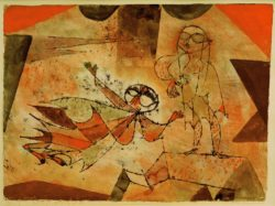 "Paul Klee ""Botschaft des Luftgeistes"" 32 x 24 cm"