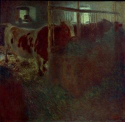 """Gustav Klimt """"Kühe im Stall"""" 77 x 75 cm"""